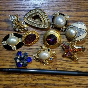 10 PC single earring -craft repair repurpose lot